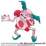 How to Draw Mr. Mime from Pokemon GO