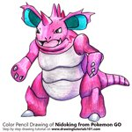How to Draw Nidoking from Pokemon GO
