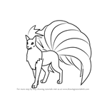 How to Draw Ninetales from Pokemon GO