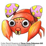 How to Draw Paras from Pokemon GO