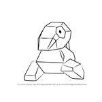How to Draw Porygon from Pokemon GO