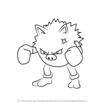 How to Draw Primeape from Pokemon GO