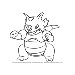 How to Draw Rhydon from Pokemon GO