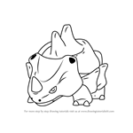 How to Draw Rhyhorn from Pokemon GO
