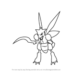 How to Draw Scyther from Pokemon GO