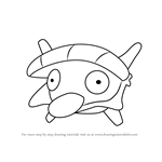 How to Draw Shellder from Pokemon GO