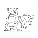 How to Draw Slowbro from Pokemon GO