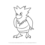 How to Draw Spearow from Pokemon GO