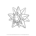 How to Draw Starmie from Pokemon GO