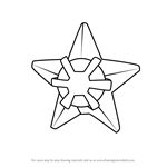 How to Draw Staryu from Pokemon GO