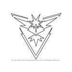 How to Draw Team Instinct from Pokemon Go