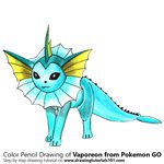 How to Draw Vaporeon from Pokemon GO