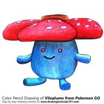 How to Draw Vileplume from Pokemon GO