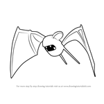 How to Draw Zubat from Pokemon GO