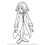 How to Draw Anthony Herzen from Professor Layton