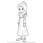 How to Draw Aurora from Professor Layton