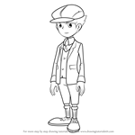 How to Draw Clive from Professor Layton
