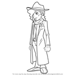 How to Draw Dimitri Allen from Professor Layton