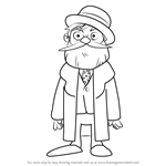 How to Draw Dr. Andrew Schrader from Professor Layton