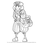 How to Draw Lettie Mailer from Professor Layton