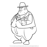 How to Draw Levin Jakes from Professor Layton