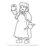 How to Draw Patty Eclaire from Professor Layton