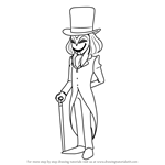 How to Draw The Masked Gentleman from Professor Layton