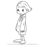 How to Draw Tony Barde from Professor Layton