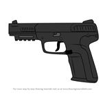 How to Draw 5.7 USG Pistol from Rainbow Six Siege