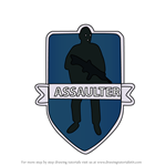 How to Draw Assaulter from Rainbow Six Siege