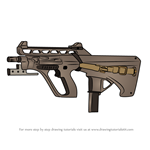 How to Draw AUG A3 SMG from Rainbow Six Siege