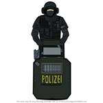 How to Draw Blitz from Rainbow Six Siege