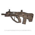 How to Draw F90 AR from Rainbow Six Siege