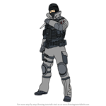 How to Draw Frost from Rainbow Six Siege