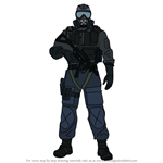 How to Draw Mute from Rainbow Six Siege