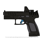 How to Draw P-10C Pistol from Rainbow Six Siege