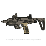 How to Draw P10 RONI SMG from Rainbow Six Siege