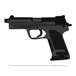 How to Draw P12 Handgun from Rainbow Six Siege