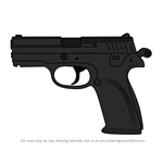 How to Draw P9 Handgun from Rainbow Six Siege