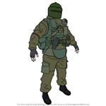 How to Draw Tachanka from Rainbow Six Siege