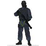 How to Draw Thatcher from Rainbow Six Siege
