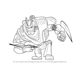 How to Draw Victor Von Ion from Ratchet and Clank