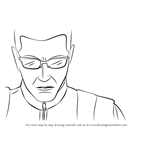 How to Draw Albert Wesker from Resident Evil