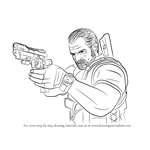 How to Draw Barry Burton from Resident Evil