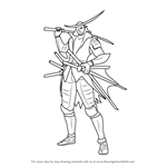 How to Draw Date Masamune from Sengoku BASARA