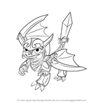 How to Draw Blades from Skylanders