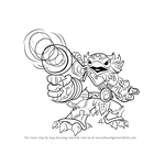 How to Draw Jet-Vac from Skylanders