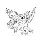How to Draw Whirlwind from Skylanders