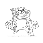 How to Draw The Panda King from Sly Cooper