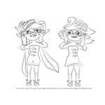 How to Draw Squid Sisters from Splatoon